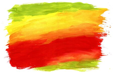 yellow green: Gouache Painting Textured Background Red, Green and Yellow Stock Photo