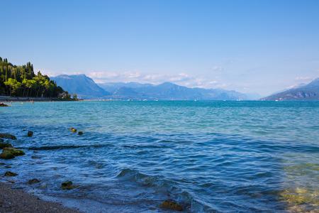 Garda lake landscape, Piemont, Italy.