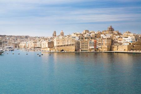 Valletta, Malta, panoramic view, beautiful sunny summer day. 免版税图像 - 121540222