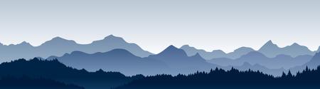 Ilustracja wektorowa pięknej panoramy.
