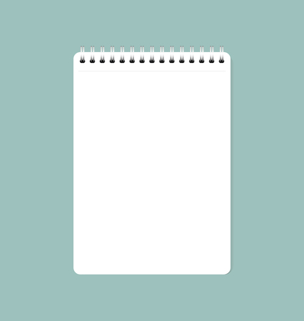 A Vector illustration of white clean sheet of paper from notebook, ready for your message.