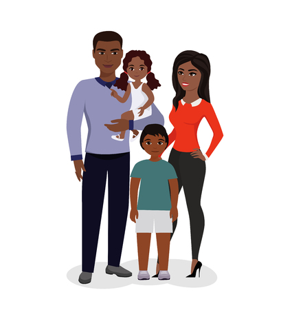 African American parents and children.