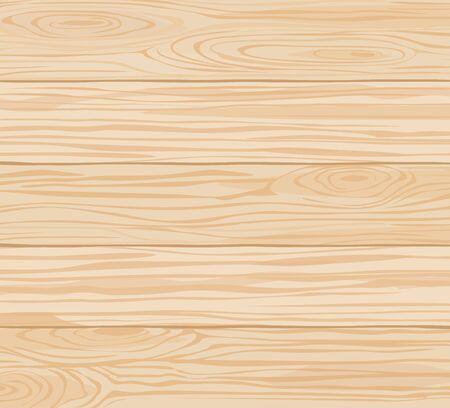 Modèle vectoriel de texture bois pour fond, papier peint, décoration de surface. Planches horizontales lisses brun clair, planches en matériau naturel avec cernes d'arbres visibles et lignes plus sombres entre les éléments