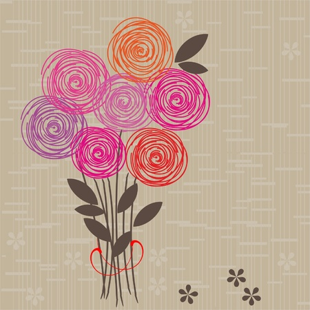Flower seamless background  Stock Vector - 10912763