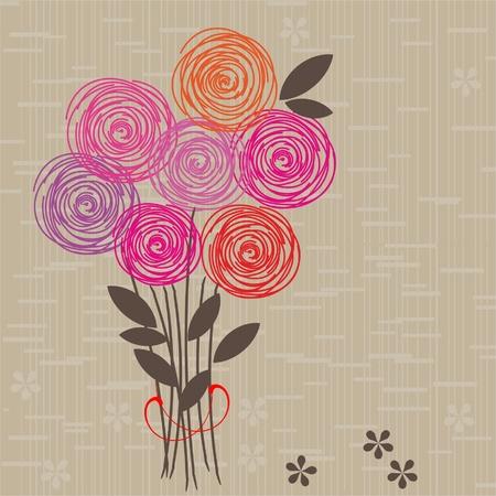 Flower seamless background Stock Vector - 10912763