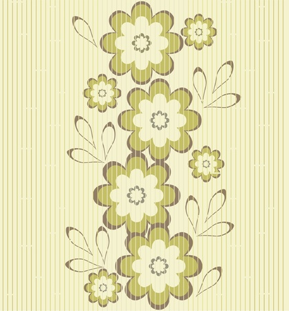 flower seamless background design  Stock Vector - 10960332