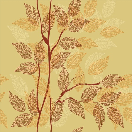 seamless leaf pattern  Stock Vector - 10960437