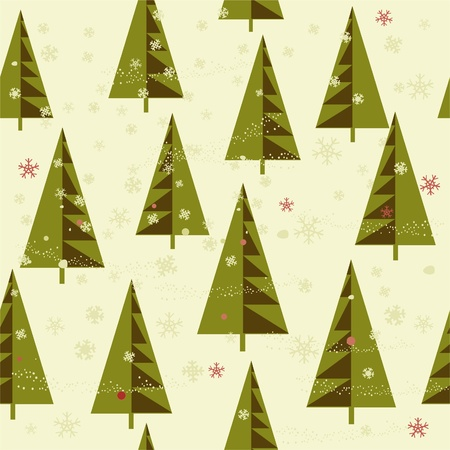 winter background with Christmas trees Stock Vector - 11074634
