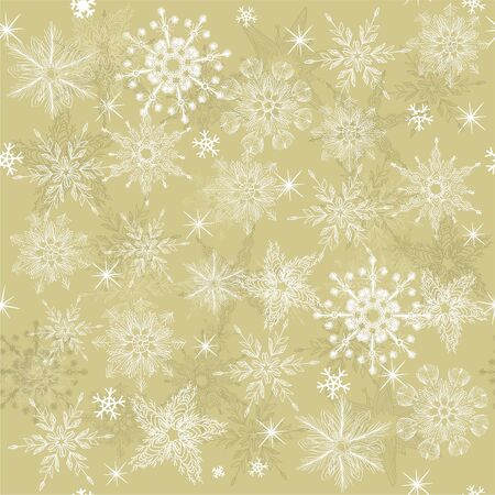 seamless background with snowflakes Stock Vector - 11074695