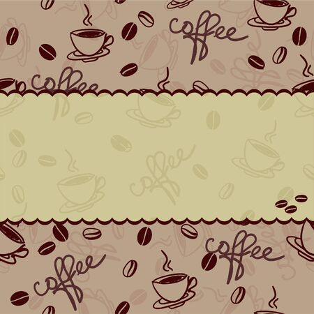seamless vector pattern with cup of coffee  Vector