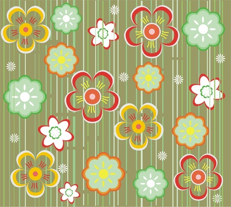 flower seamless background design  Stock Vector - 11285558