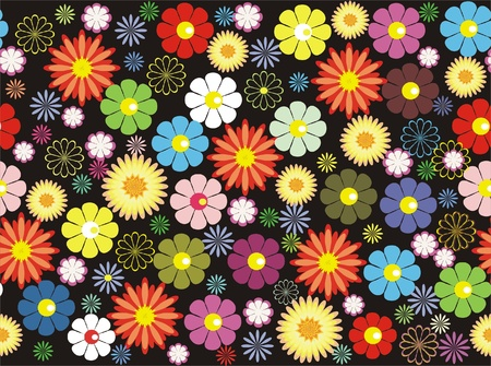 flower seamless background design  Stock Vector - 11285524