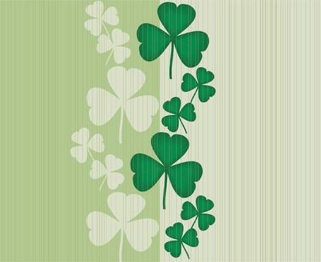 trefoil: clovers seamless background