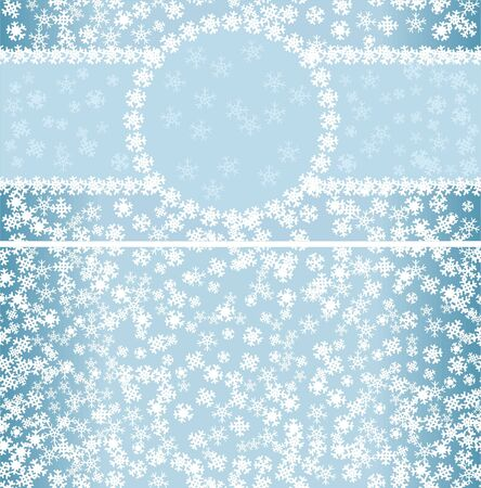 winter pattern with frame and seamless background  Vector