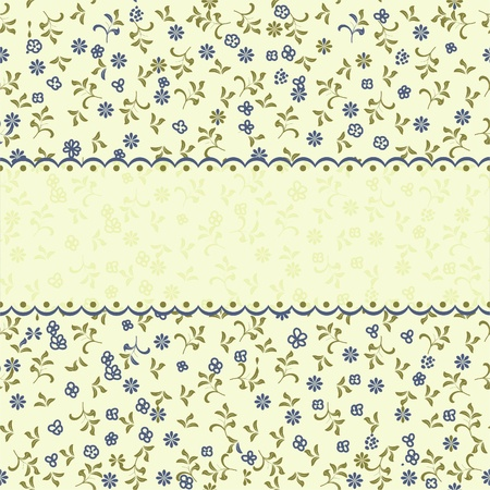 delicate: vintage floral seamless pattern