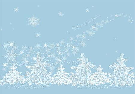 Winter blizzard Stock Vector - 11285470