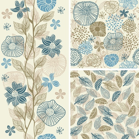 seventies: flower seamless background design