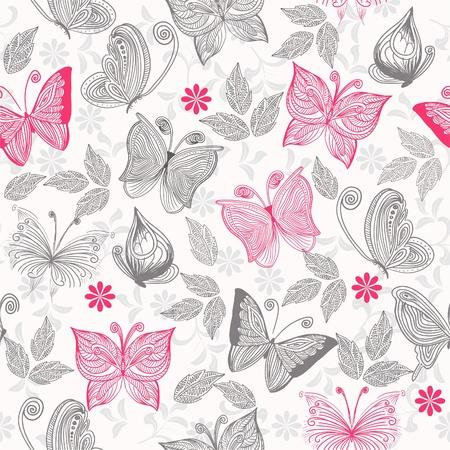 seamlessly: senza soluzione di continuit� sfondo floreale con farfalle