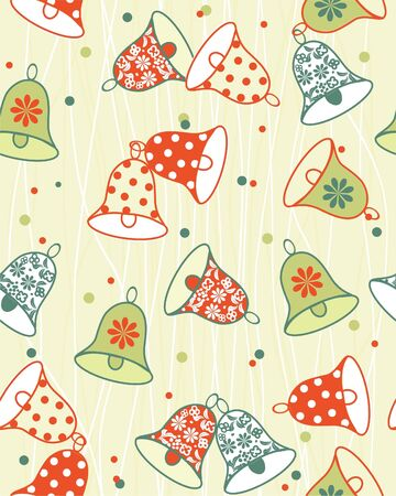 seamless background with bells  Vector