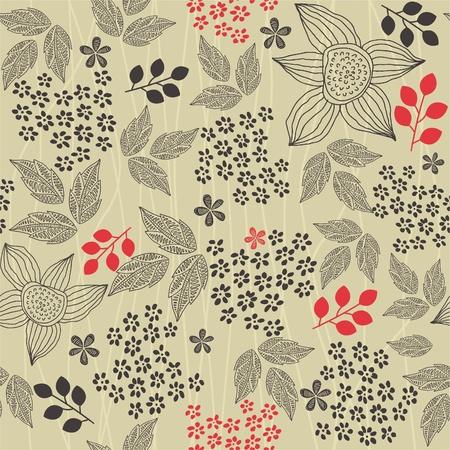 orange blossom: seamless floral background  Illustration