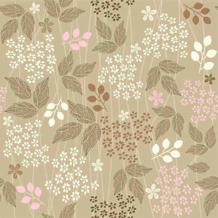 abstracte vormen: naadloze retro bloemenachtergrond Stock Illustratie