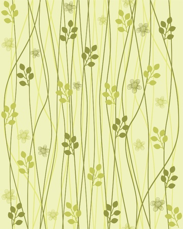 vintage background pattern: seamless floral background  Illustration