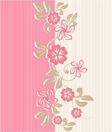 flower seamless background design  Vector