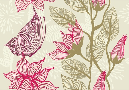 Seamless vector texture with flowers Vector