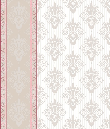 seamless damask background with banner Stock Vector - 12308510
