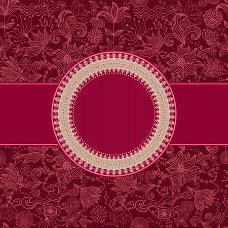 floral pattern with frame Vector