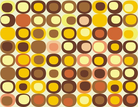 Retro seamless square pattern Vector
