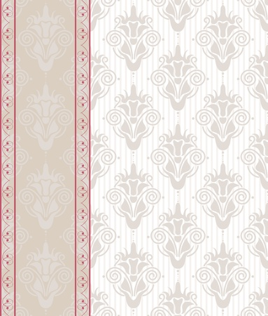 seamless damask background with banner Stock Vector - 12900248