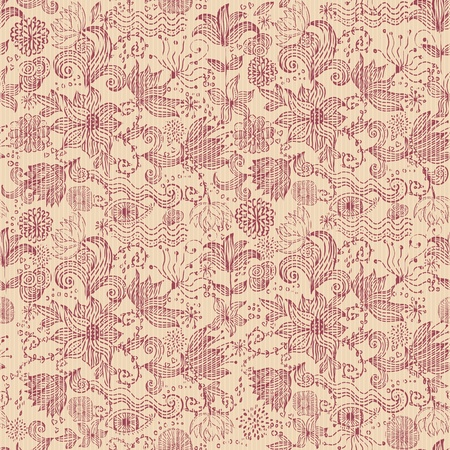 seamless retro floral background Stock Vector - 12900255