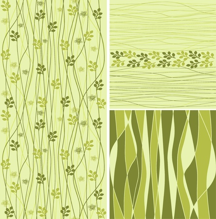 seamless flower background set