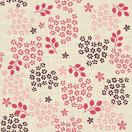 seamless retro floral background Stock Vector - 12900271