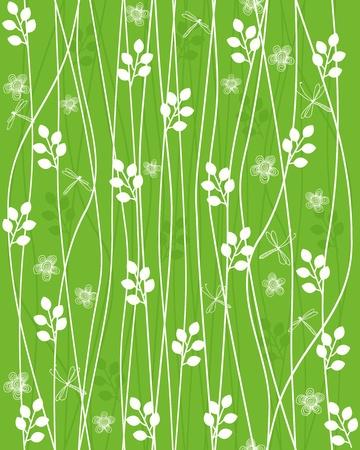 ant leaf: fondo floral sin fisuras Vectores