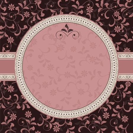 floral pattern with frame Illustration