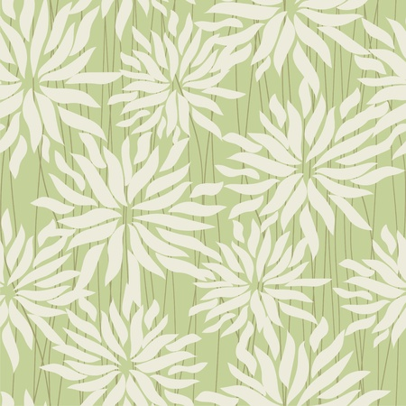 Seamless vector texture with chrysanthemums Vector