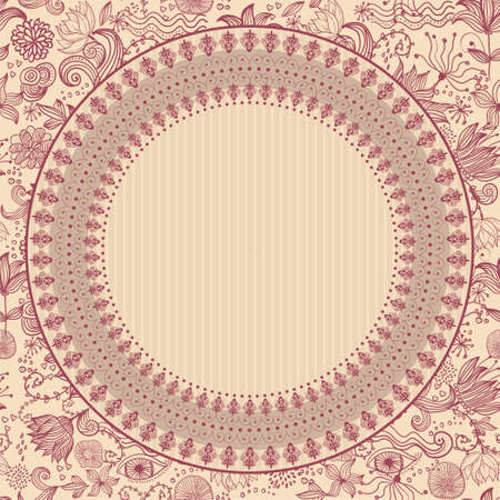 floral background with template for your text  Vector