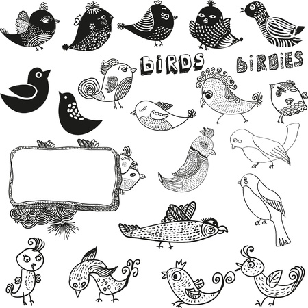 Set Birds Vector Stock Vector - 12900460