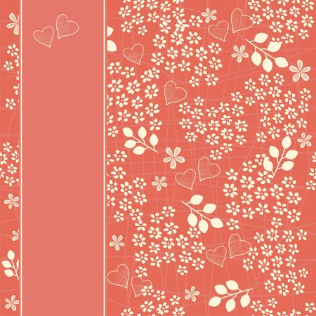 seamless floral pattern with banner Vector