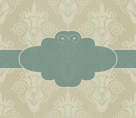 seamless damask background with banner Stock Vector - 12900458