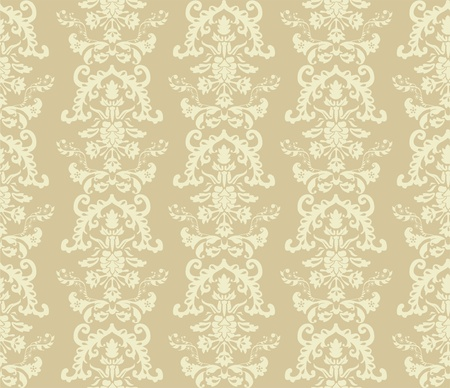 seamless damask wallpaper  Stock Vector - 13481898