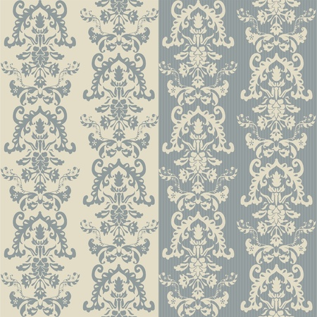 seamless damask wallpaper Stock Vector - 13481921