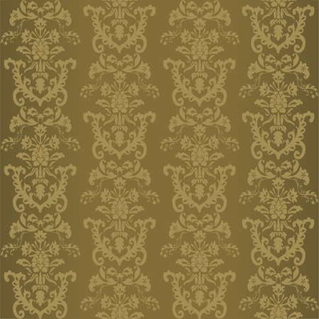 swirly design: seamless retro wallpaper