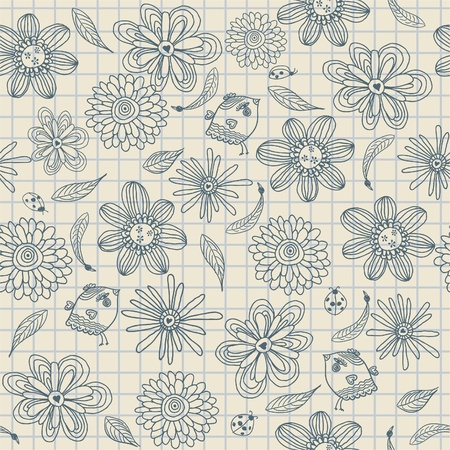 seamless doodle pattern Stock Vector - 13481954