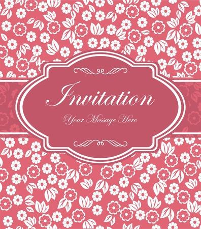 Cartes d'invitation dans un style rétro