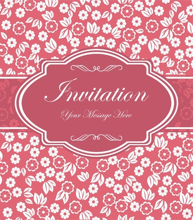 Invitation cards in a retro style  Vector