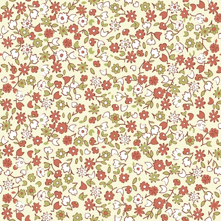 wrapping paper: seamless floral background  Illustration