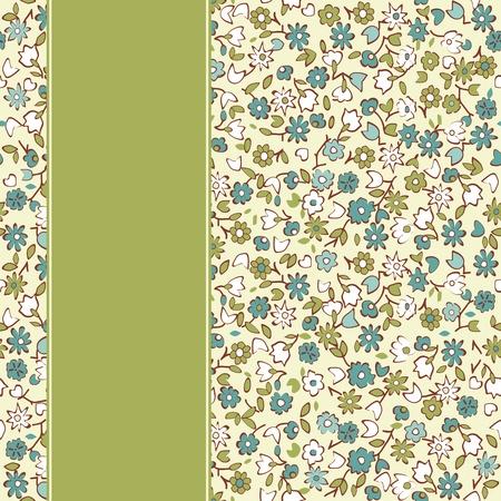 Vector floral card  Vector